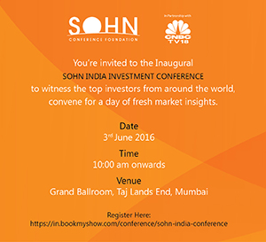 Click to Register for the first Sohn India Conference