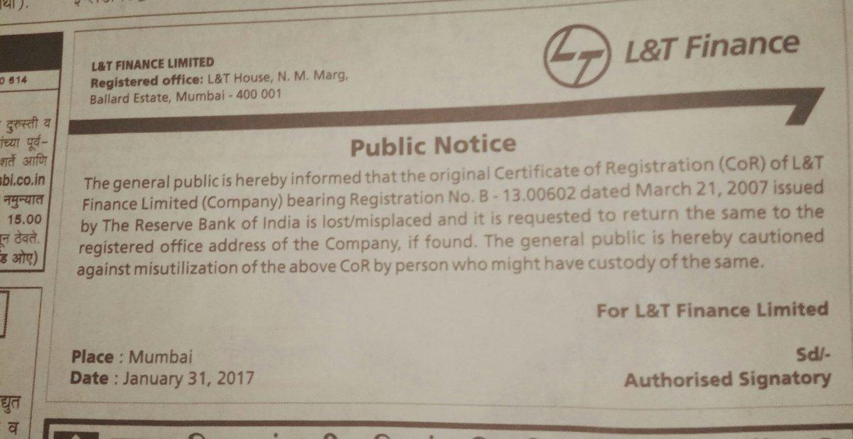 Lt Finance Loses Its Certificate Of Registration Alpha Ideas