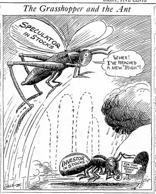 A 1928 Stock Market Cartoon Alpha Ideas